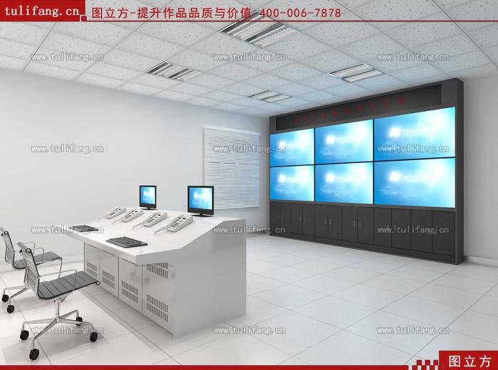 监控电视墙效果_监控电视墙效果图机房监控室效果图制作-图立方机房监控室效果 ...